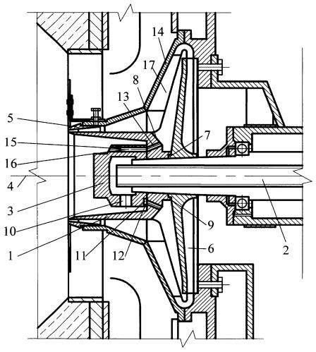 Распыливающий узел ротационной горелки для жидкого топлива