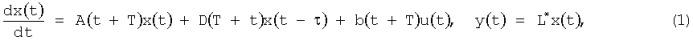 Адаптивная система управления для динамических объектов с периодическими коэффициентами и запаздыванием