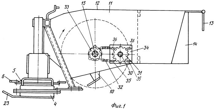 Косилка с устройством для кондиционирования трав