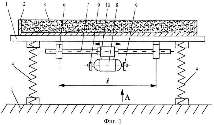 Виброплощадка для уплотнения бетонных смесей (варианты)