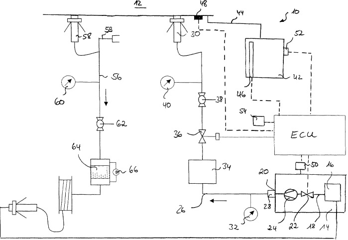 Устройство и способ для испытания системы топливных баков воздушного судна