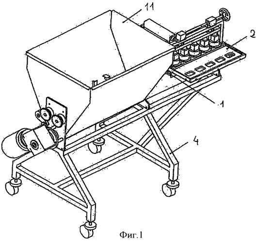 Дозировочная машина для тестообразных продуктов с управляемой дозировкой
