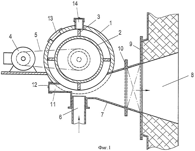 Устройство для ввода отходов и/или альтернативных топлив в процесс получения клинкера