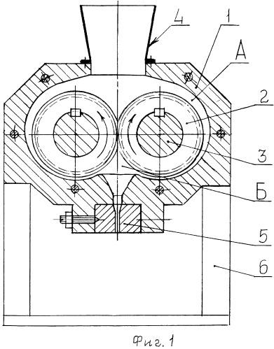 Экструдер для переработки баллиститных порохов и топлив