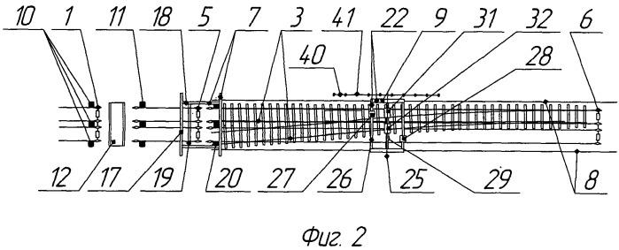Поточная линия для сборки стрелочного перевода железнодорожного пути