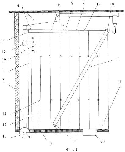 Сооружение для окраски изделий в производственном помещении
