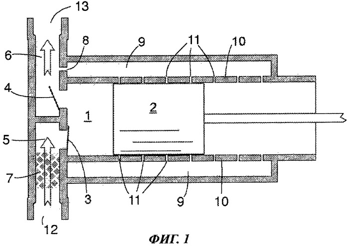 Компрессор, содержащий поршень с газовым подшипником