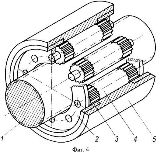 Планетарная роликовинтовая передача с модифицированной резьбой роликов