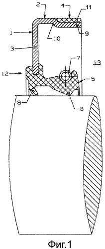 Цельный металлический опорный элемент для радиальных уплотнений валов