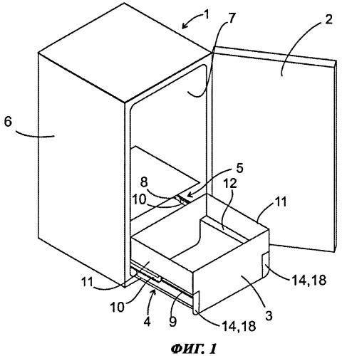 Холодильный аппарат с телескопической выдвижной системой