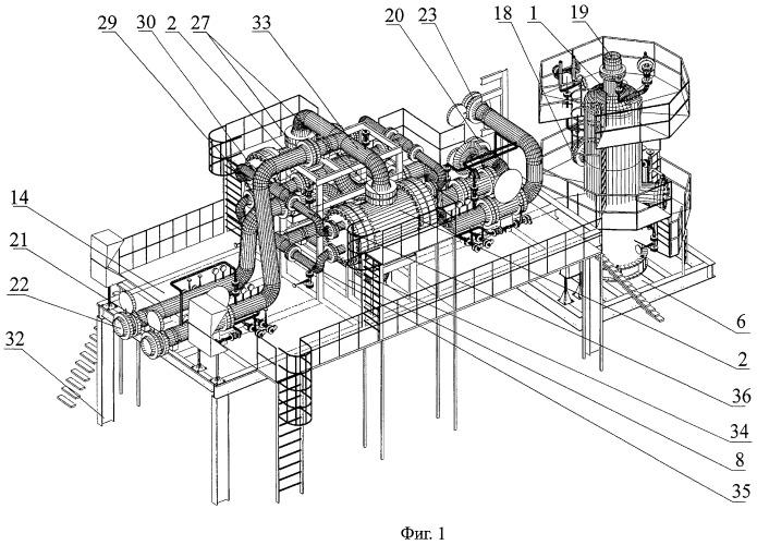 Комплекс блоков промежуточной сепарации газовых или газожидкостных смесей