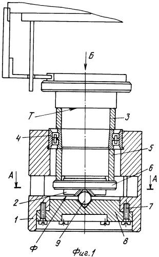 Устройство для контроля точности вращения двухрядного роликоподшипника при имитации рабочего натяга