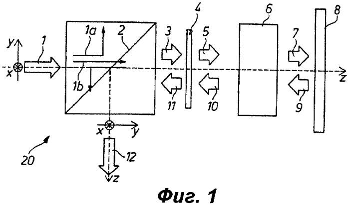 Система фазового модулятора, содержащая расщепитель пучка и фазовый модулятор линейной поляризации, и способ разделения светового пучка, падающего на такой фазовый модулятор и отраженного от него