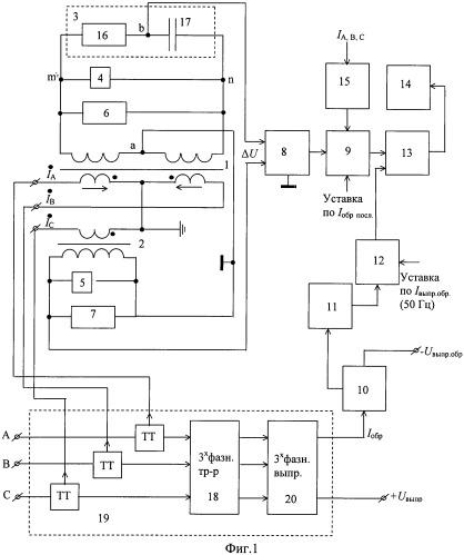Устройство для защиты выпрямительных агрегатов тяговых подстанций от несимметричных внешних и внутренних коротких замыканий