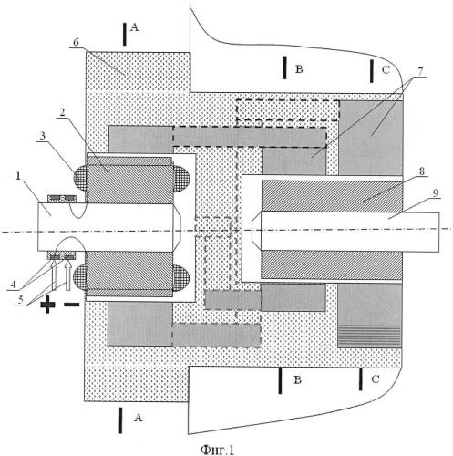 Электромагнитная муфта-редуктор с герметизирующим экраном