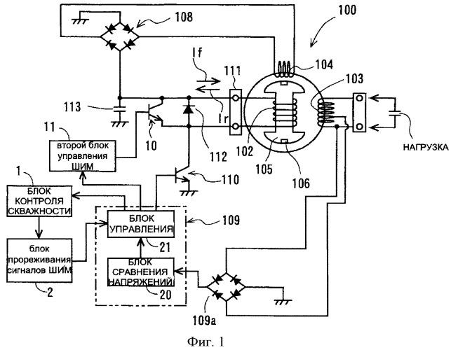 Устройство управления выходным напряжением электрогенератора