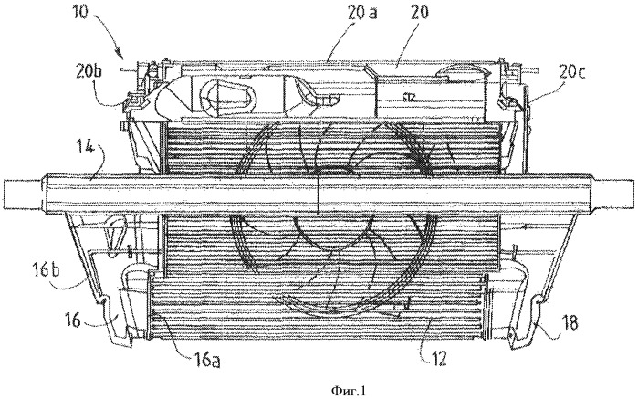 Устройство для направления воздуха в передней части конструкции транспортного средства