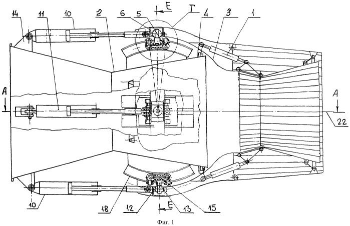 Поворотное круглое осесимметричное реактивное сопло воздушно-реактивного двигателя