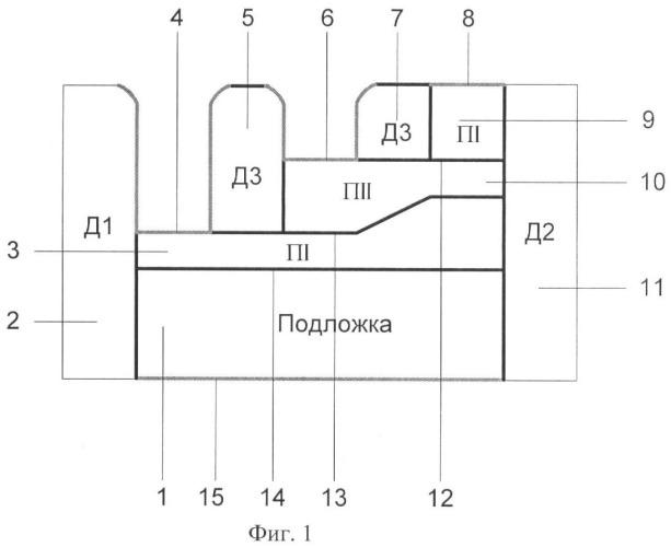 Интегральный логический элемент и-не на основе слоистой трехмерной наноструктуры