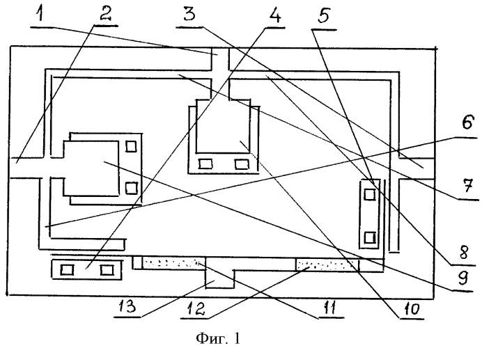 Двухканальный переключатель свч