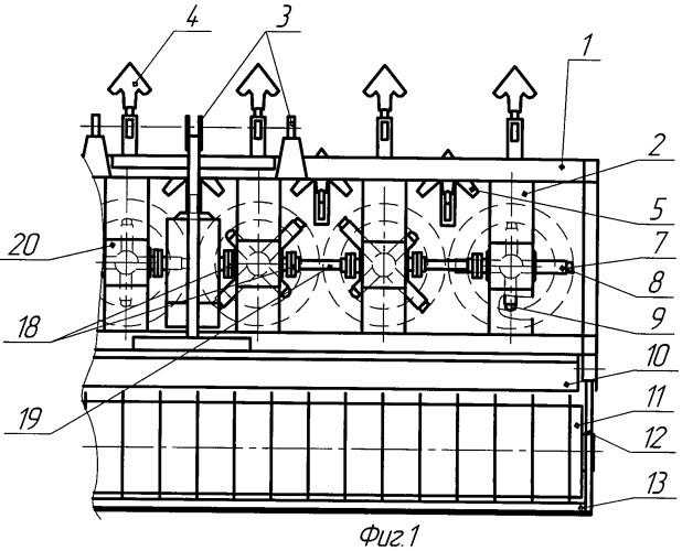 Комбинированная вертикально-роторная машина