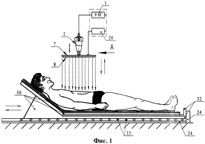 Устройство для бесконтактной ультразвуковой обработки биотканей