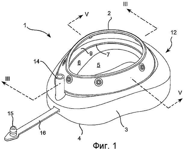 Надувной лицевой обтюратор для респираторной маски и способ изготовления такого обтюратора