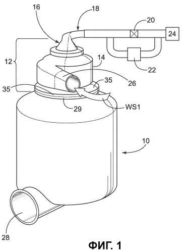 Вихревое устройство для разделения отходов