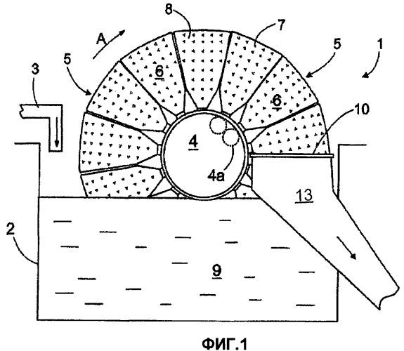 Сектор дискового фильтра и дисковый фильтр