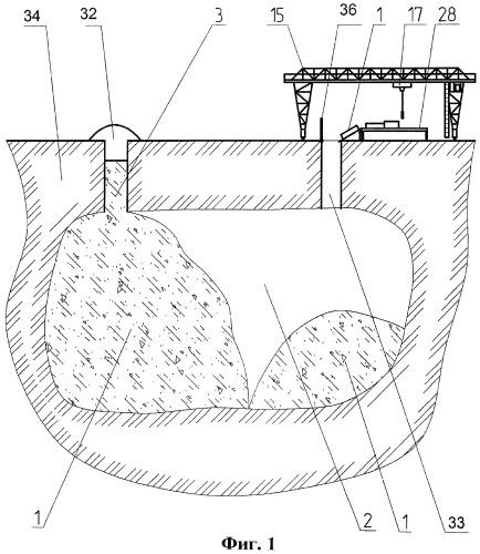 Способ утилизации твердых бытовых отходов и их захоронения в выработанных подземных пространствах