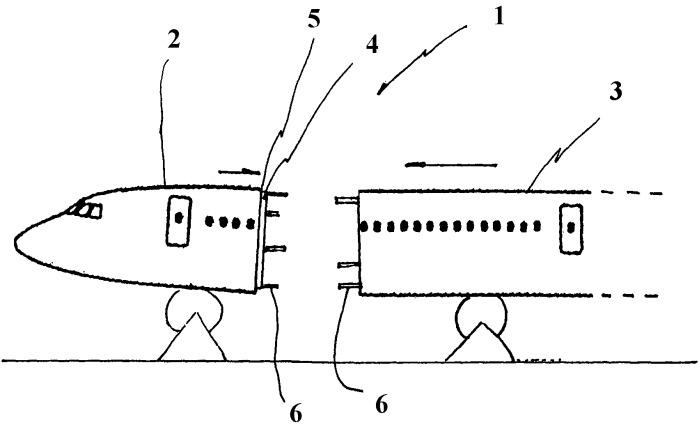 Способ подготовки соединения двух секций фюзеляжа летательного аппарата