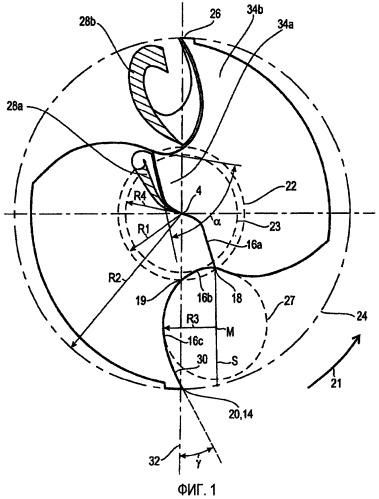 Вершина сверла для сверлильного инструмента