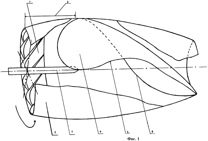 Гребной винт конструкции калашникова