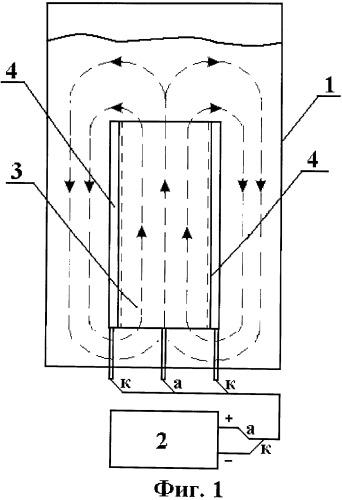 Устройство для электрохимической очистки питьевой воды