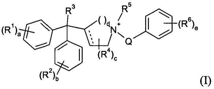 Четвертичные аммониевые дифенилметилсоединения, применимые в качестве антагонистов мускариновых рецепторов