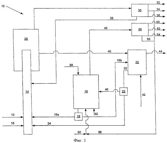 Установка и способ получения среднего дистиллята и низших олефинов из углеводородного сырья