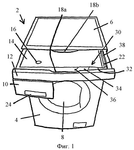 Аппарат с ультразвуковым чистящим устройством для обработки текстильных изделий
