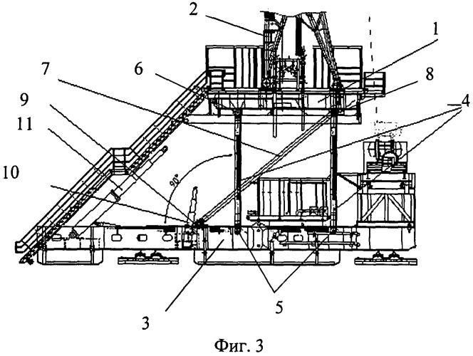 Вышечно-лебедочный блок буровой установки