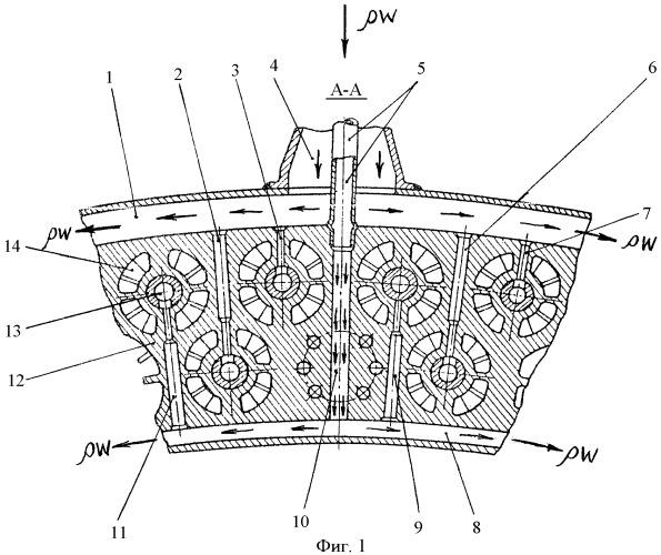 Головка кольцевой камеры сгорания газотурбинного двигателя
