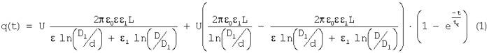 Устройство контроля постоянной времени релаксации объемного электрического заряда в потоке диэлектрической жидкости