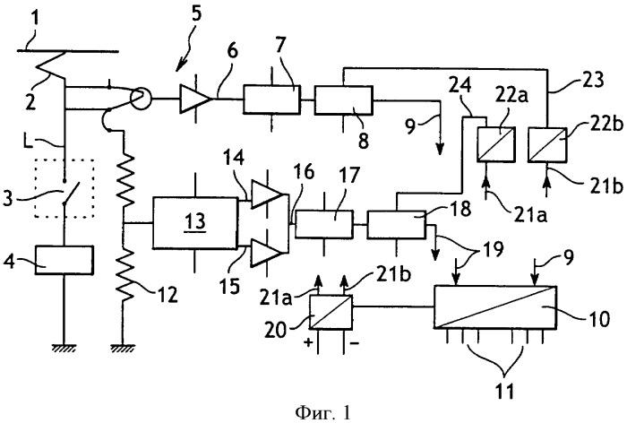 Устройство измерения электрической энергии, подаваемой на железнодорожную силовую тяговую установку