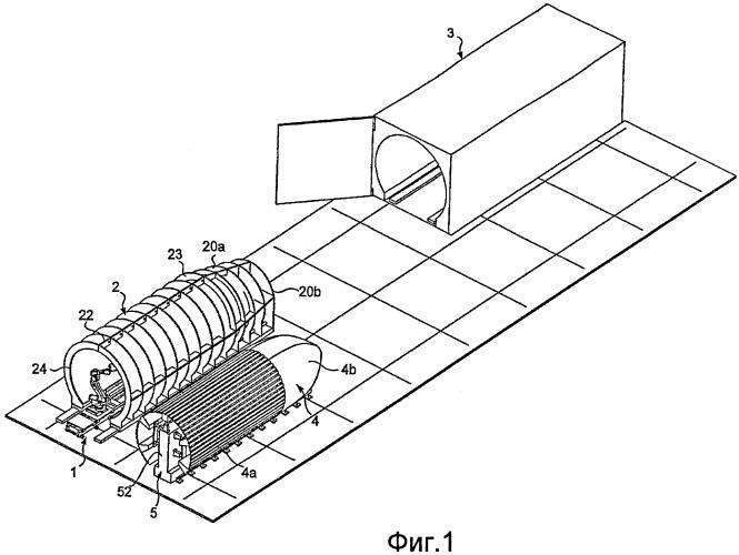 Способ и устройство для изготовления деталей из композитного материала, в частности участков фюзеляжа самолета