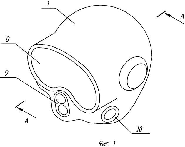 Способ изготовления водолазного шлема из слоистых полимерных композитов, форма для изготовления водолазного шлема из слоистых полимерных композитов и водолазный шлем из слоистых полимерных композитов