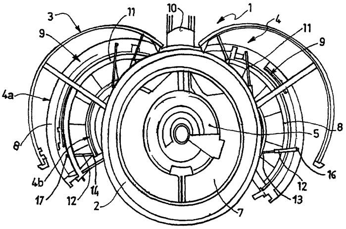 Гондола турбореактивного двигателя с амортизаторами для полустворок
