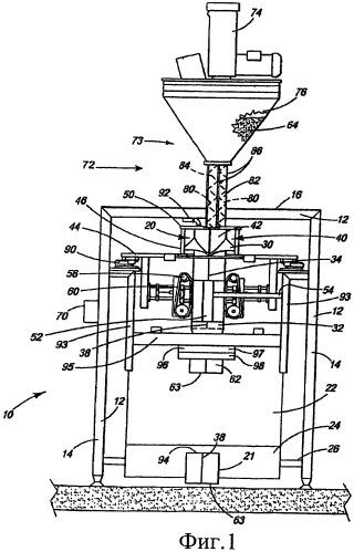 Двухшнековая система и способ наполнения пакетов гидросмесью