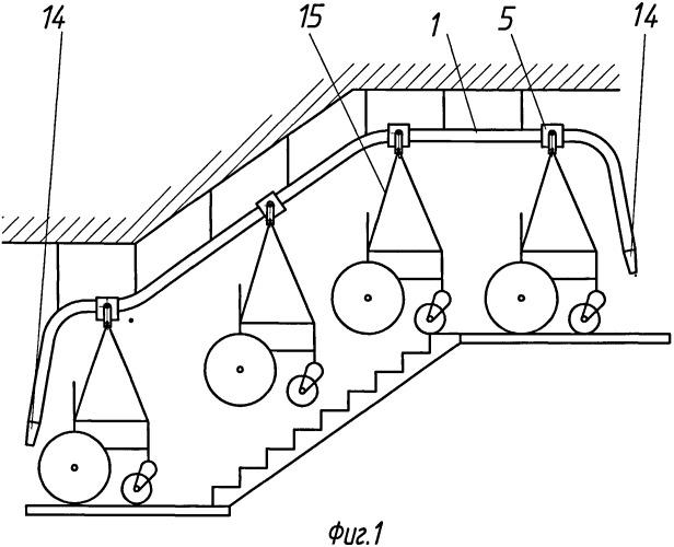 Подвесной лестничный подъемник