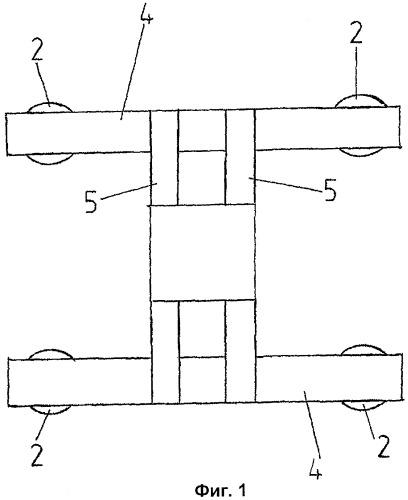 Конструкция фундамента для сооружения или здания и способ ее изготовления