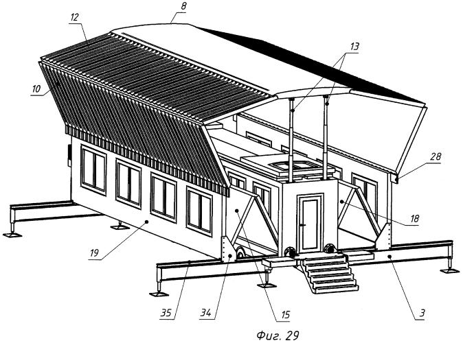 Способ трансформирования быстровозводимого сборно-разборного модульного здания и мобильный дом-трансформер