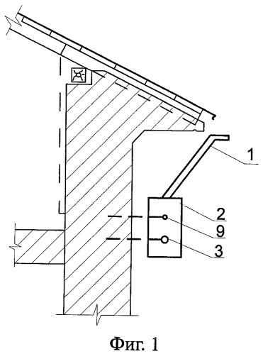 Устройство для удаления сосулек с карнизного свеса крыш