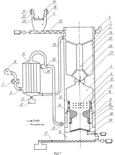 Газогенератор для газификации влажного топлива